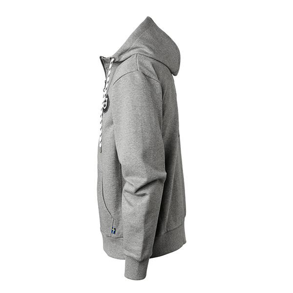 Sweat à capuche zippé gris Volvo