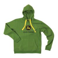 Sweat à capuche vert John Deere