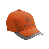 Casquette haute visibilité orange John Deere