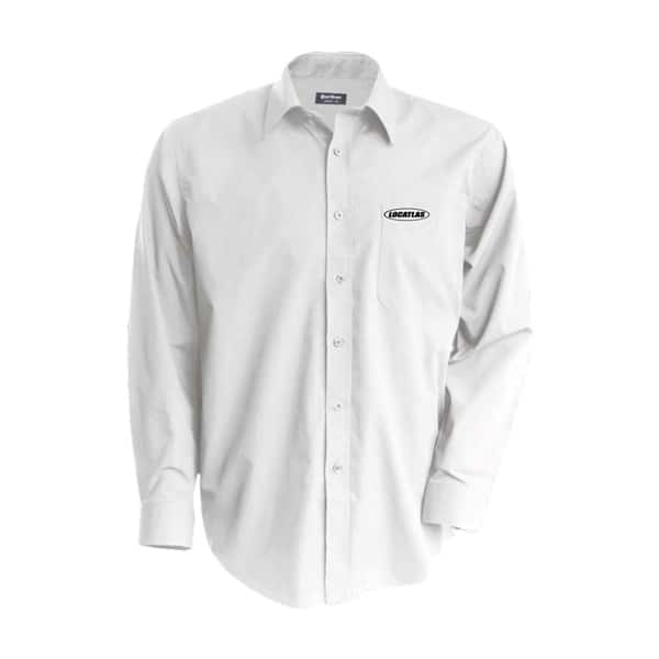 Chemise blanche manches longues brodée Locatlas