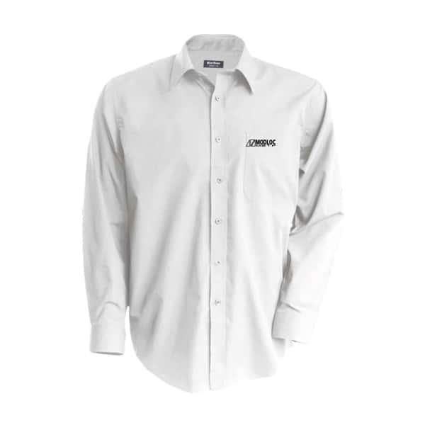 Chemise blanche manches longues brodée Modloc