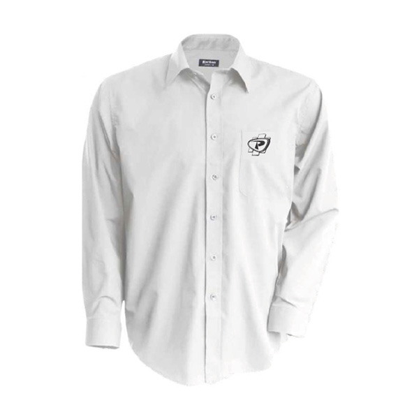 Chemise blanche manches longues brodée Payant