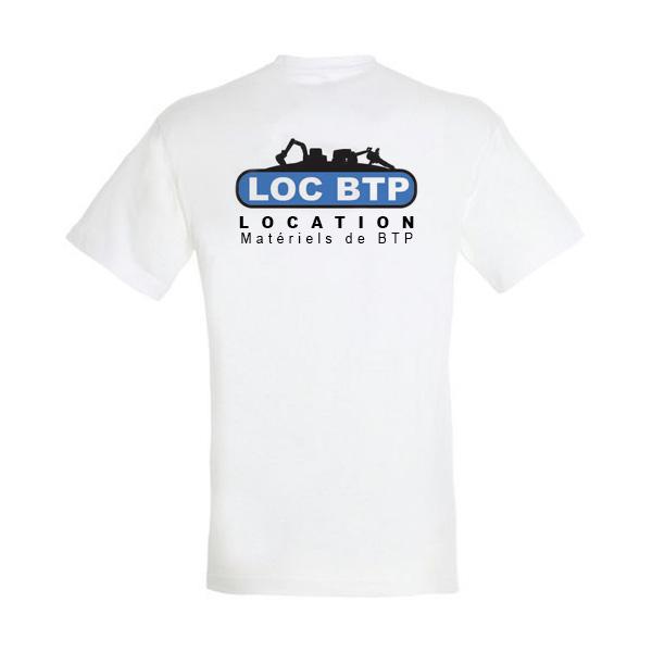 T-shirt Logo Loc BTP dos