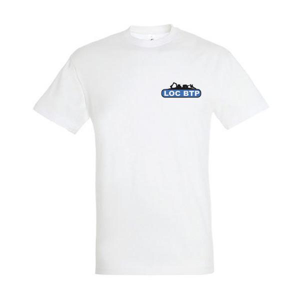 T-shirt Logo Loc BTP face