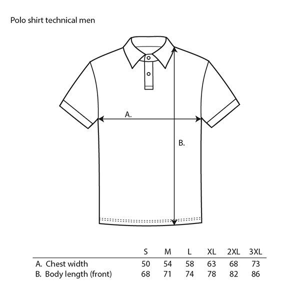 Guide taille polo technique homme Metso