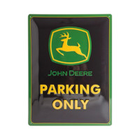 "Plaque métallique ""Parking Only"" John Deere"