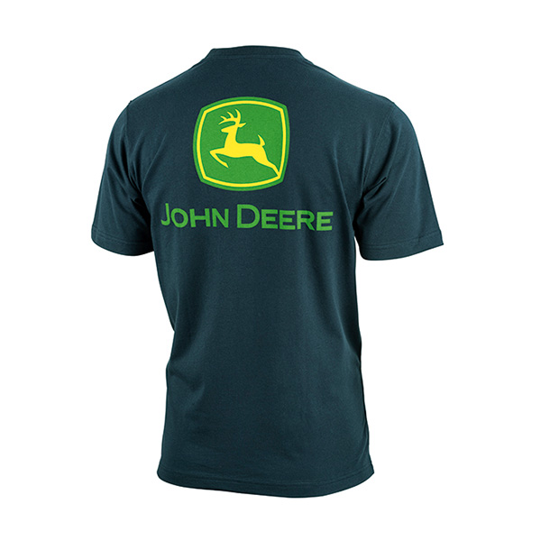 T-shirt Logo John Deere bleu foncé (dos)