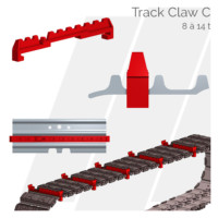 Crampons pour tuiles Track Claw C Hettec