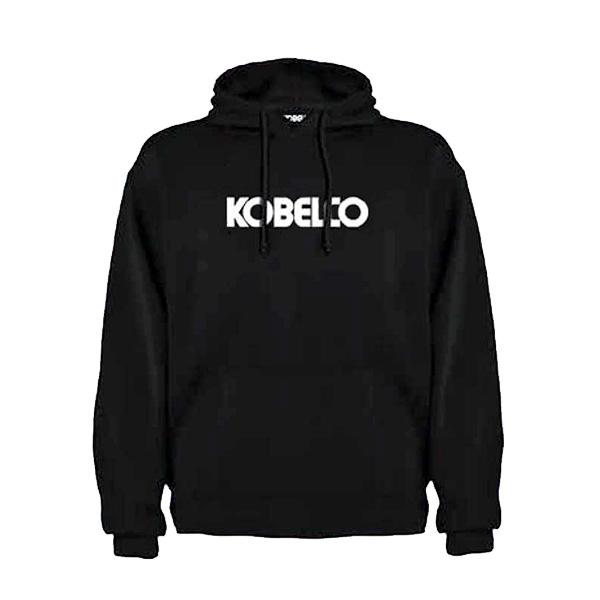 Sweat à capuche noir Kobelco