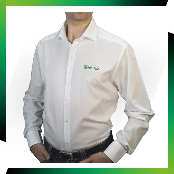 Nouveau : Chemise manches longues blanche Merlo