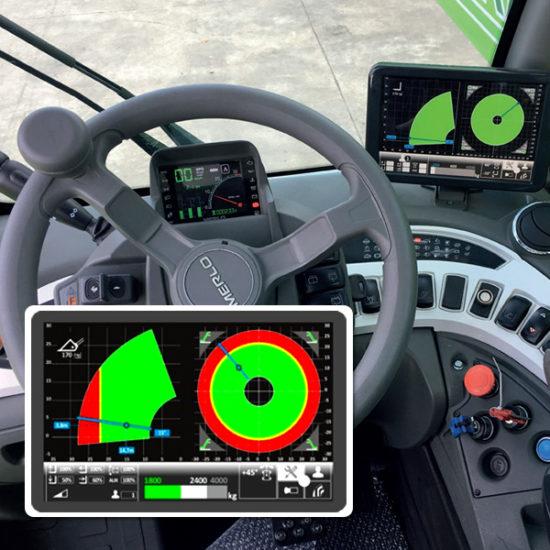 Système de récolte de données avec écran LCD Merlo