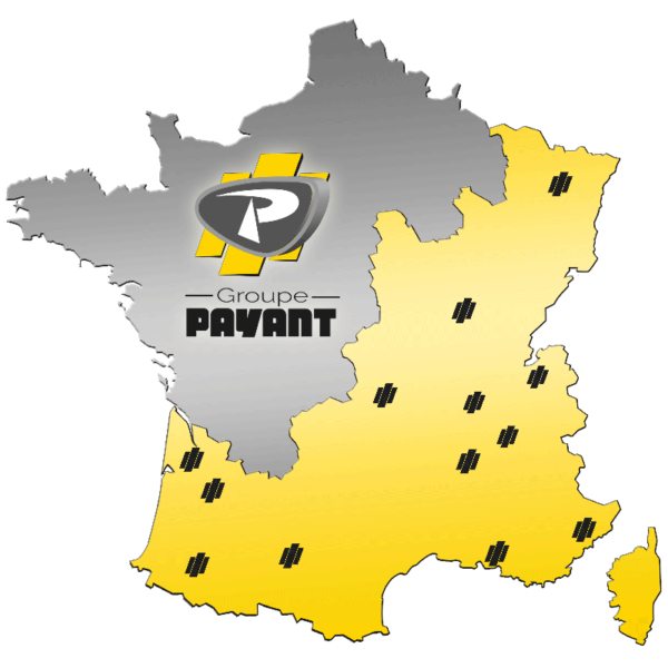 Territoire du Groupe Payant et des ses agences