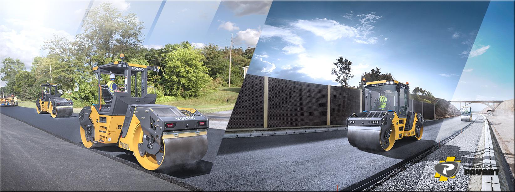Images Compacteurs d'Asphalte Volvo - Groupe Payant