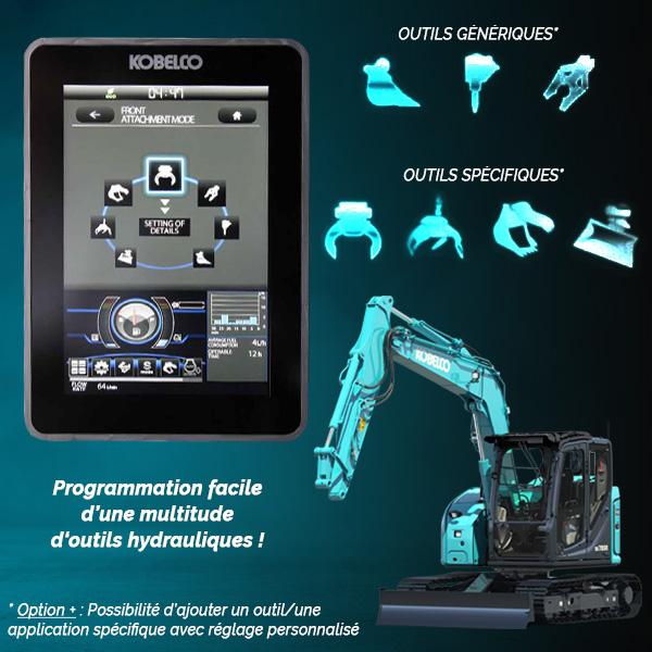 SK75SR-7 : Gestion des outils facilité
