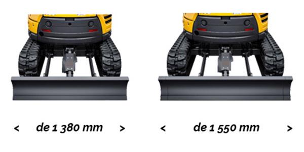 Mini pelle Yanmar ViO23 - Châssis à largeur variable