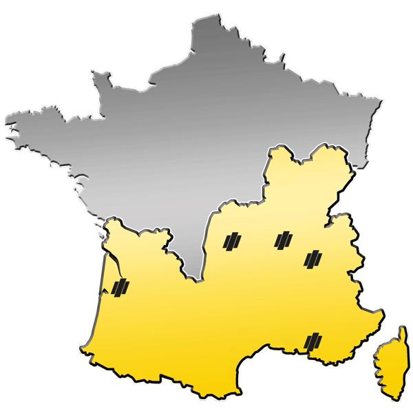 Zone de distribution de matériels de Travaux Publics du Groupe PAYANT