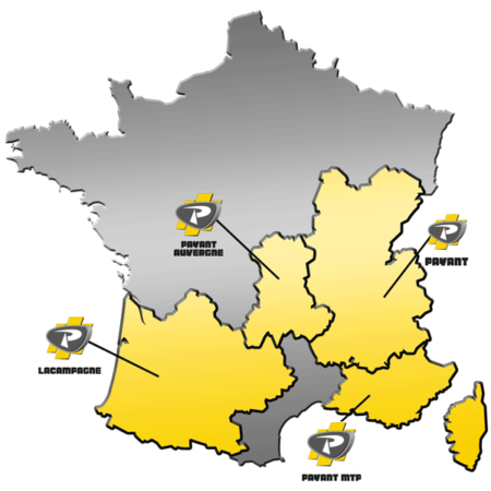 Zones de distribution de matériels ATLAS COPCO