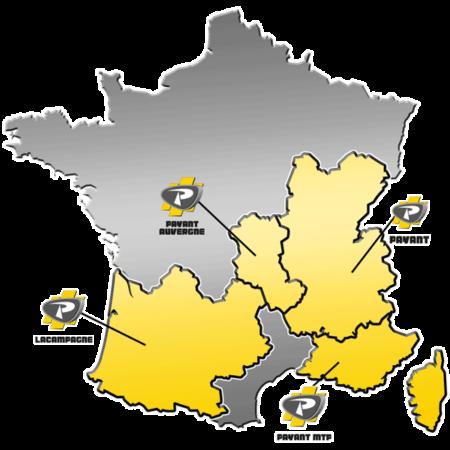 Zones de distribution de matériels EPIROC