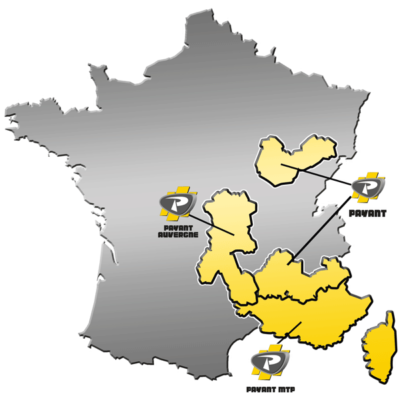 Zones de distribution de matériels MAGNI