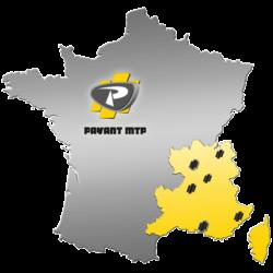 Carte du territoire de la société Payant MTP