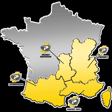 Zones de distribution de matériels PRONAR