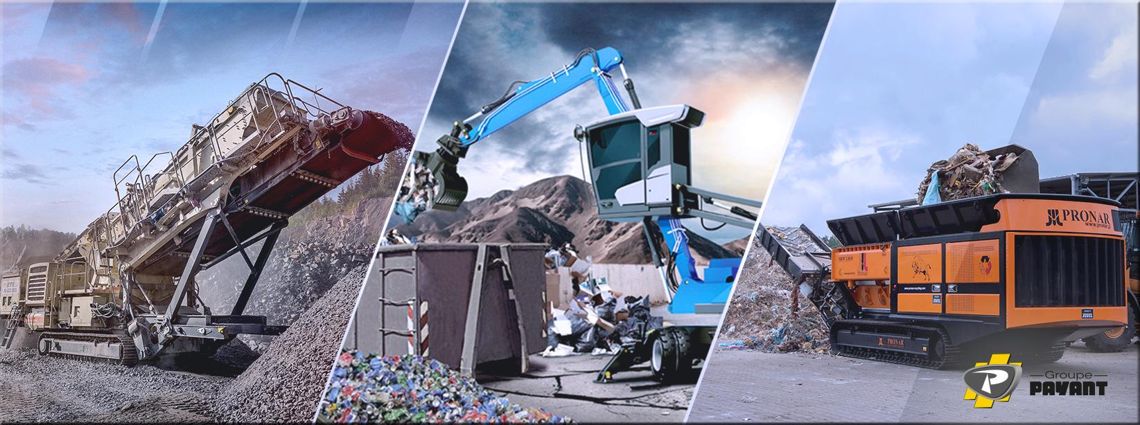 Matériels de Carrière/Recyclage/Environnement Groupe PAYANT