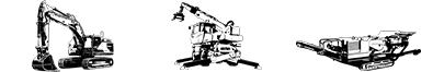 Illustration Métiers Travaux Publics, Levage/Manutention, Carrière/Recyclage/Environnement
