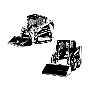Skid steer, chargeuses compactes d'occasion