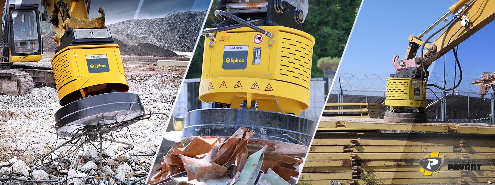 Aimants Hydrauliques pour Excavatrice Epiroc
