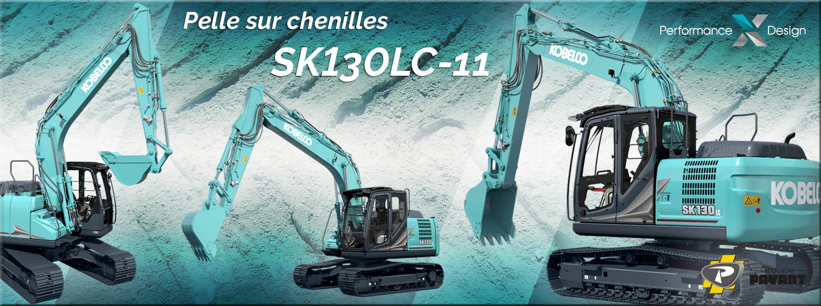 Pelle sur chenilles SK130LC-11 Kobelco