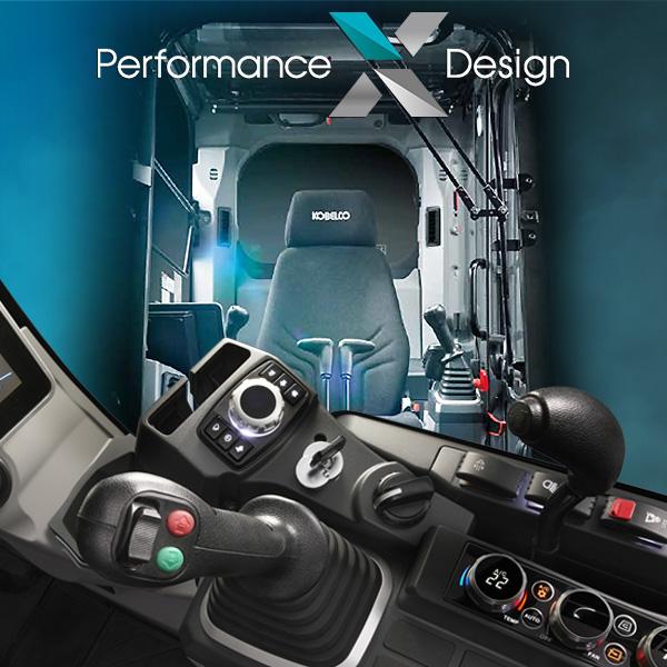 Cabine Performance X Design de la sk130lc-11 Kobelco