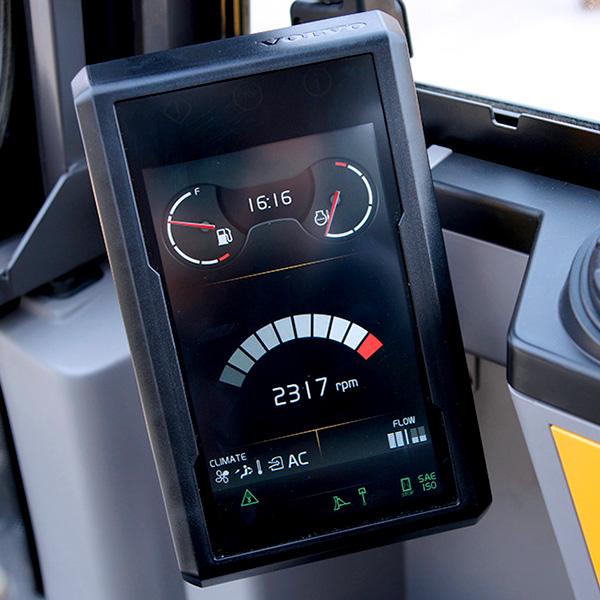Pelle compacte EW60E écran de contrôle
