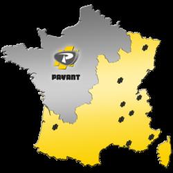 Carte du territoire de la société PAYANT
