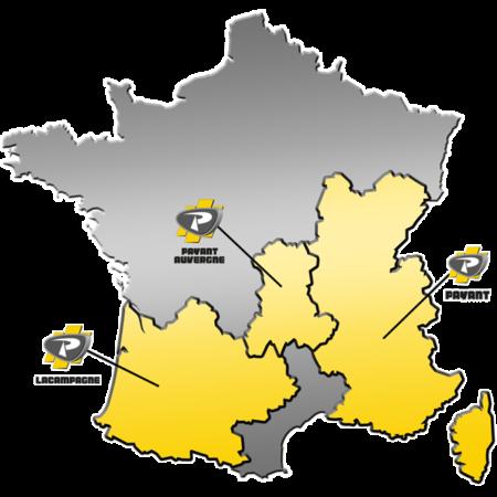 Zone de distribution des matériels ATLAS COPCO