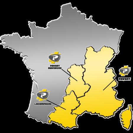 Zone de distribution des matériels LASER-GRADER