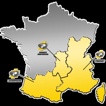 Zone de distribution des matériels PRONAR