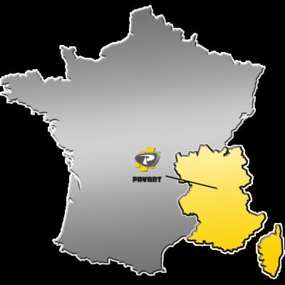 Zone de distribution de matériels VOLVO CE - PAYANT