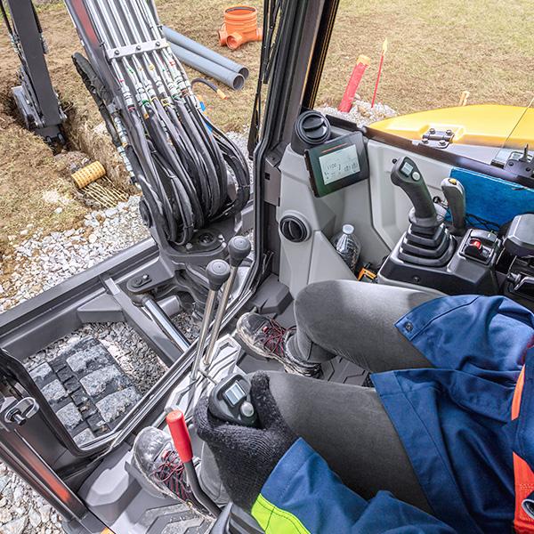 Volvo ECR58F : espace, confort et ergonomie