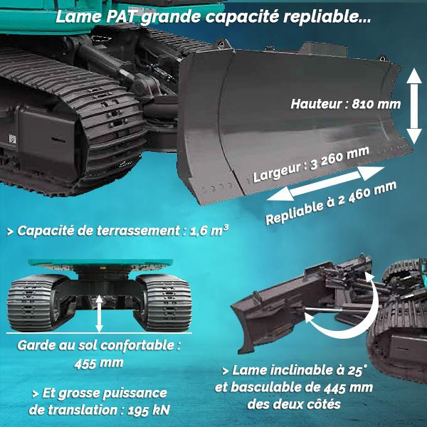 ED160BR-7 - Blade Runner : Grandes capacités de terrassement