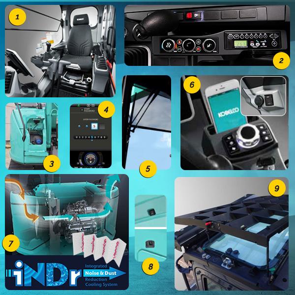 ED160BR-7 : De nombreux équipements de série