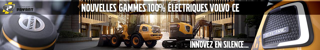 Gammes 100% électriques Volvo CE - Groupe PAYANT