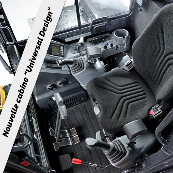 Mini pelle ViO50-6B : Confort et ergonomie