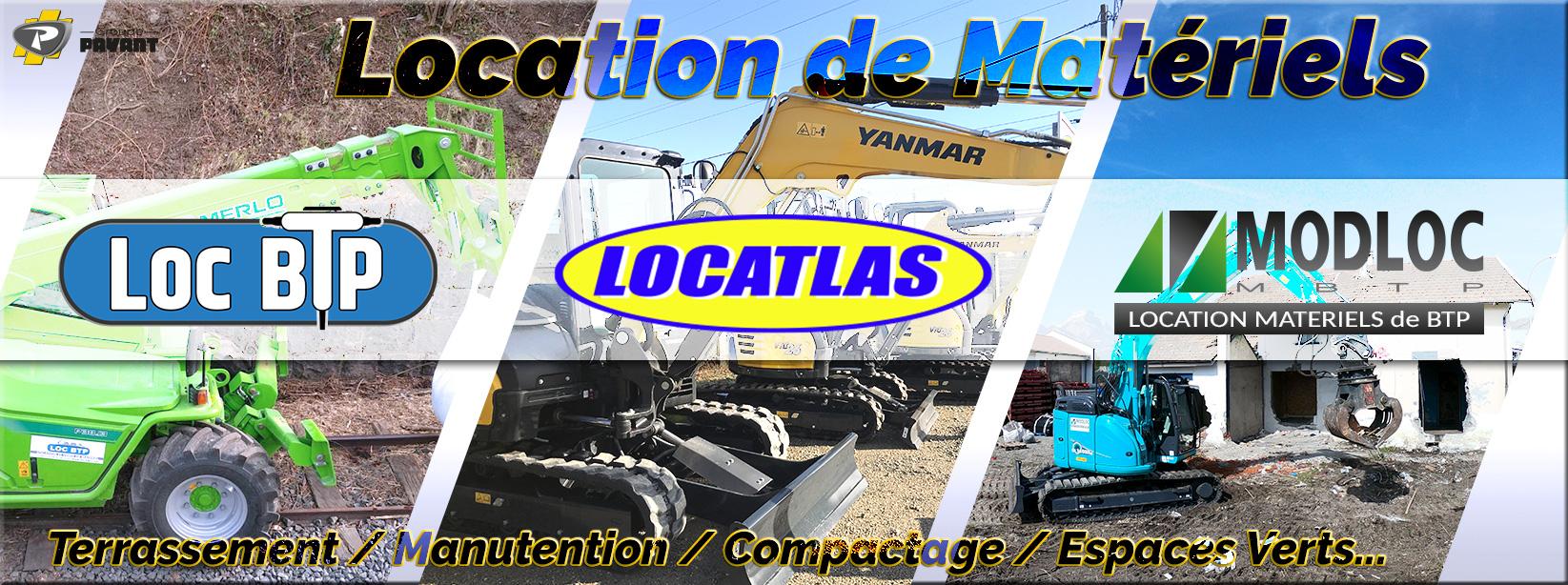 Service location : Loc BTP, Locatlas, Modloc - Groupe PAYANT