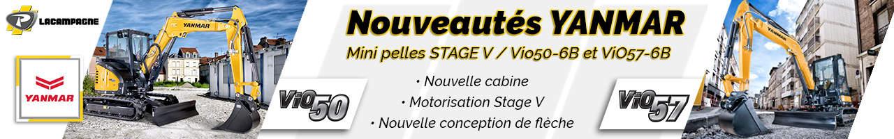 NOUVEAU : mini pelles ViO50-6B et ViO57-6B Yanmar - Groupe Payant