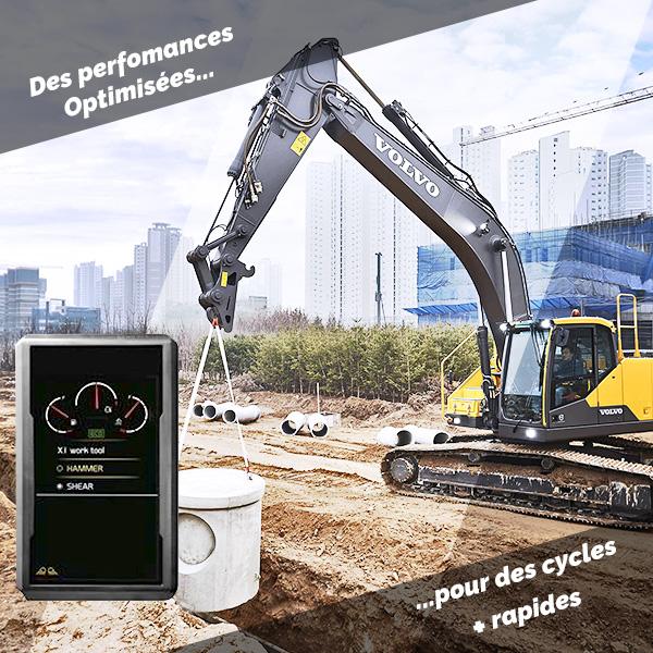 EC300E Hybride : Performances optimisées et cycles plus rapides