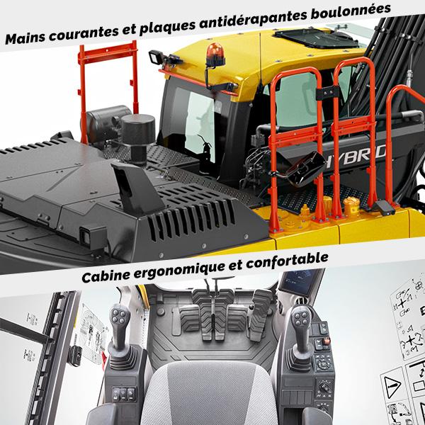 EC300E Hybride : Sécurité, confort et ergonomie