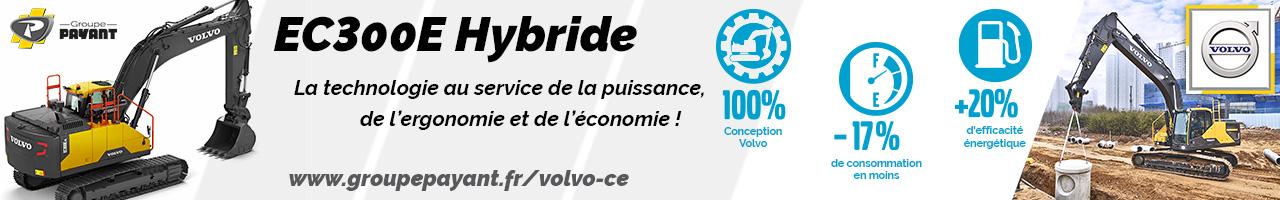 Pelle sur chenilles EC300E Hybride Volvo CE - Groupe PAYANT
