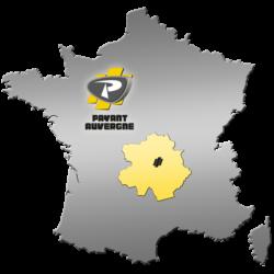 Carte du territoire de la société Payant AUVERGNE