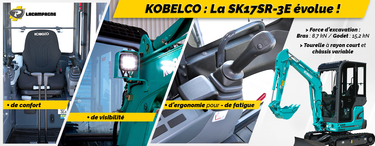 Nouvelle SK17SR-3E Kobelco