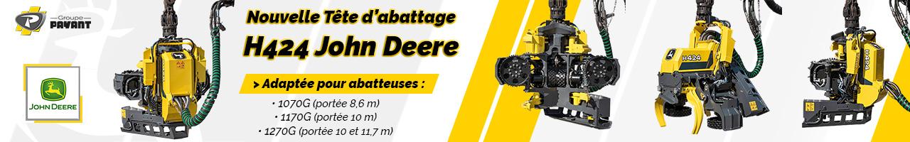 Nouvelle tête d'abattage H424 John Deere - Groupe PAYANT
